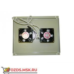 Модуль вентиляторный с 2 вентиляторами 600х600, серый