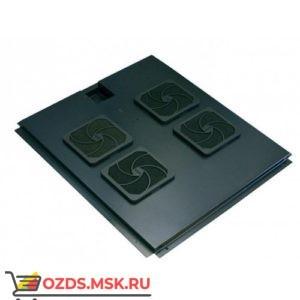 Модуль вентиляторный с 4 вентиляторами, черный, для шкафов гл. 800 мм