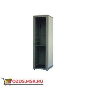 Шкаф телекоммуникационный напольный 27U (600х600х1388) дверь стекло, цвет-серый