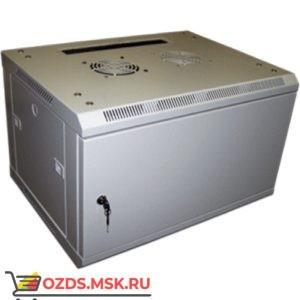 Шкаф телекоммуникационный настенный 15U (600x600х769) дверь металл, цвет-серый