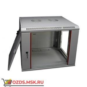 Шкаф телекоммуникационный настенный 12U (600x600х653) дверь стекло, цвет-серый