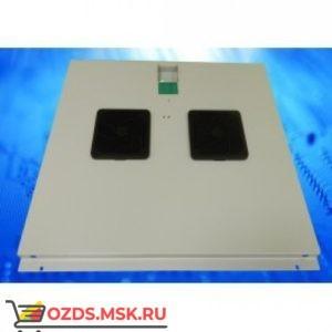 Модуль вентиляторный с 2 вентиляторами, серый, для шкафов гл. 800 мм