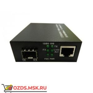 Медиаконвертер под SFP модуль, 1Gbit