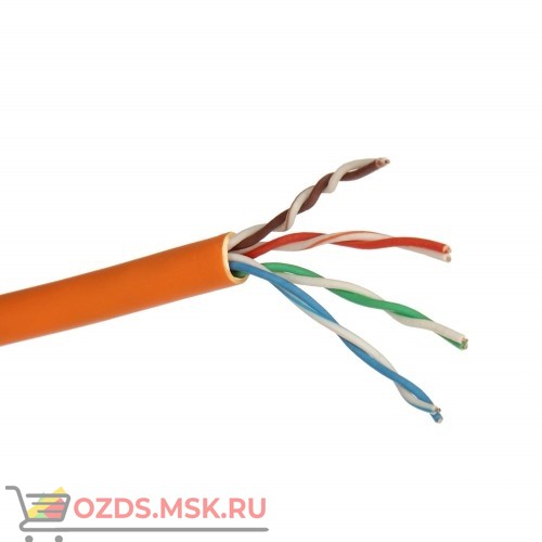 Кабель UTP 4PR 23AWG CAT6 305м FRLS оранжевый Lan-Cable