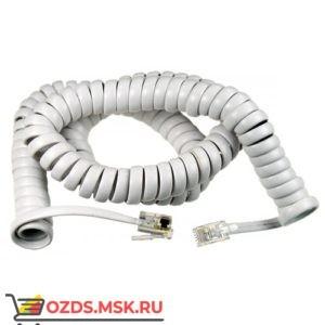 Шнур витой телефонный-4.5 м (белый)