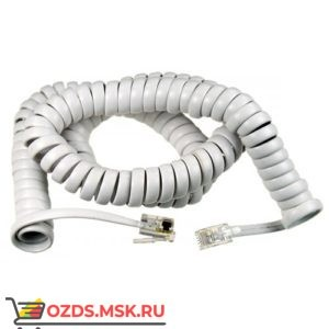 Шнур витой телефонный-2.5 м (белый)