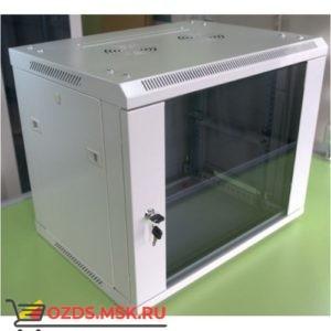 Шкаф телекоммуникационный настенный 15U (600x600х769) дверь стекло, цвет-серый