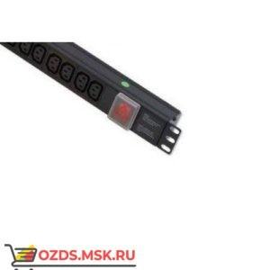 Блок розеток 19, 12 гнезд IEC C13, 16A, без шнура (разъем С14)