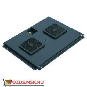 Модуль вентиляторный с 2 вентиляторами, черный, для шкафов гл. 800 мм