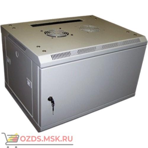 Шкаф телекоммуникационный настенный 6U (600x600х368) дверь металл, цвет-серый