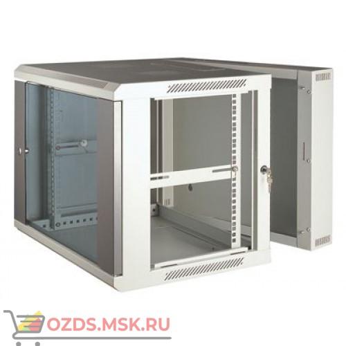 Шкаф телекоммуникационный настенный 3-х секционный 12U (600x550х635) дверь стекло