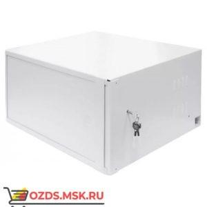 """Пенал под 19"""" оборудование-9U (В455 x Ш560 x Гл400)мм, цвет-белый, замок"""