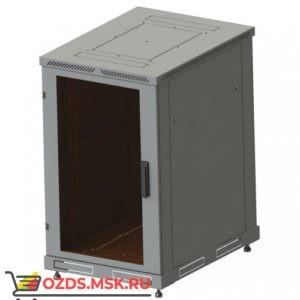 Шкаф телекоммуникационный напольный 18U, гл. 600 (600x600х800) дверь стекло