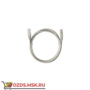 Патч-корд UTP 6а кат. литой 0.5 м СЕРЫЙ