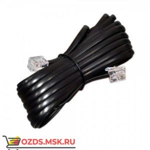 Телефонный удлинитель 2.0 м (черный)