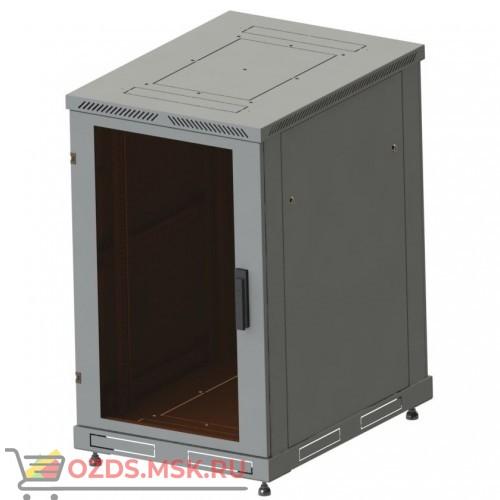 Шкаф телекоммуникационный напольный 18U, гл. 800 (600x800х800) дверь стекло