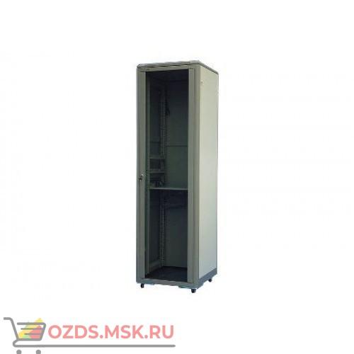 Шкаф телекоммуникационный напольный 32U (600х600х1610) дверь стекло, цвет-серый