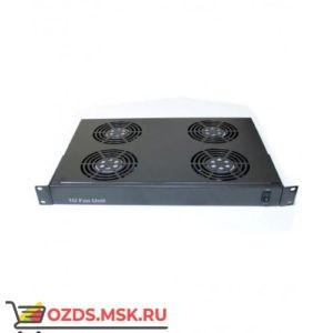 Полка вентиляторная 19 1U с 4 вентиляторами, черная