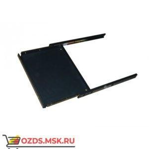 Выдвижная полка под клавиатуру для шкафов гл. 600 мм, 300мм, цвет- черный