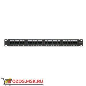 Патч-панель 19на 24 портаRJ45 dual IDC, кат. 5е
