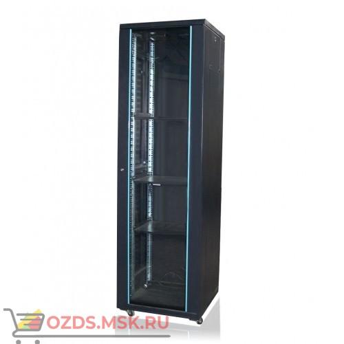 Шкаф телекоммуникационный напольный 36U (600х600х1805) дверь стекло, цвет-черный