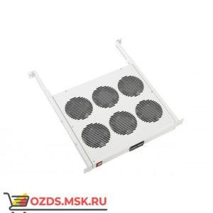 Модуль вентиляторный 19 1U, 6 вентиляторов, регулируемая глубина 390-750 мм, с термодатчиком