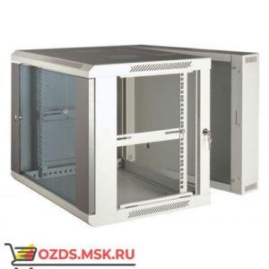 Шкаф телекоммуникационный настенный 3-х секционный 9U (600x550х501) дверь стекло