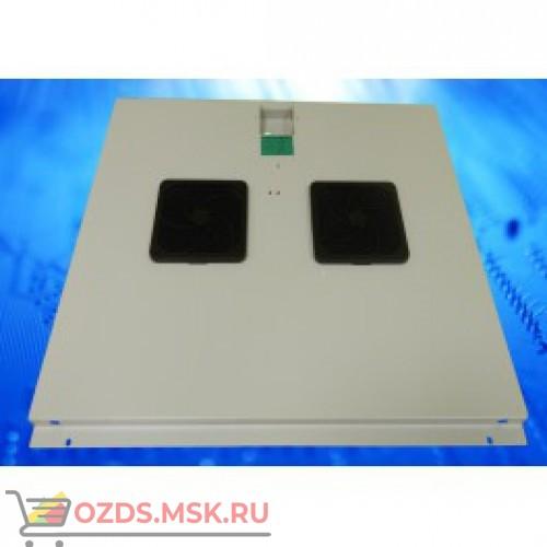 Модуль вентиляторный с 2 вентиляторами, серый, для шкафов гл. 600 мм