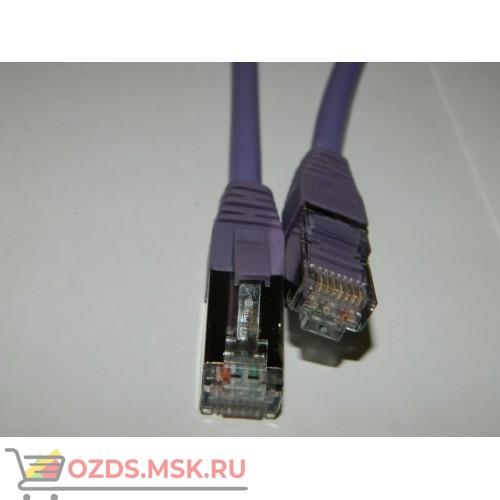 Патч-корд FTP 6а кат. литой 1.0 м LSZH, ФИОЛЕТОВЫЙ