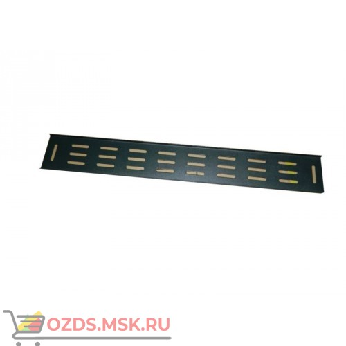 Вертикальный кабельный органайзер 22U, шириной 82 мм, черный