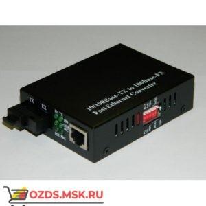 WDM 10100 медиаконвертер, SM, SC, 1310nm, 20 km с DIP переключателем