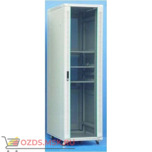 Шкаф телекоммуникационный напольный 47U (800х1000х2277) дверь стекло, задняя-перфорир., цвет-серый