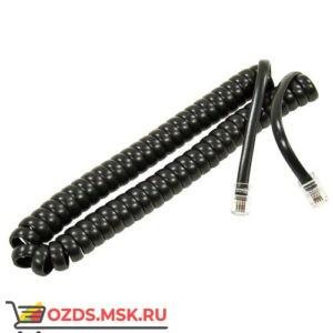 Шнур витой телефонный-2.5 м (черный)