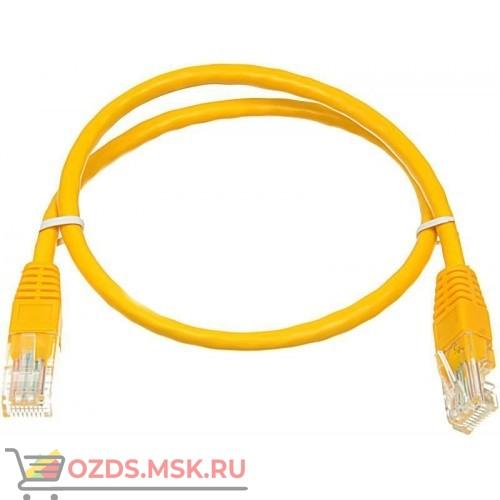Патч-корд UTP 6а кат. литой 1.0 м ЖЕЛТЫЙ