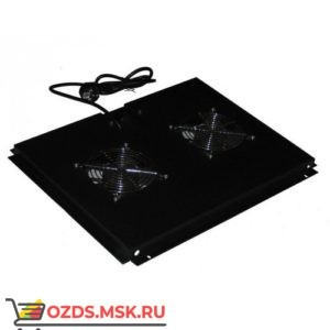 Модуль вентиляторный с 2 вентиляторами, черный, для шкафов гл. 600 мм