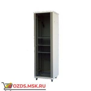 Шкаф телекоммуникационный напольный 22U (600х600х1168) дверь стекло, цвет-серый