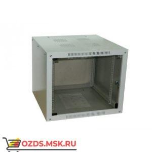 Шкаф телекоммуникационный настенный 12U (600x600х635) дверь стекло, цвет-серый, разборный