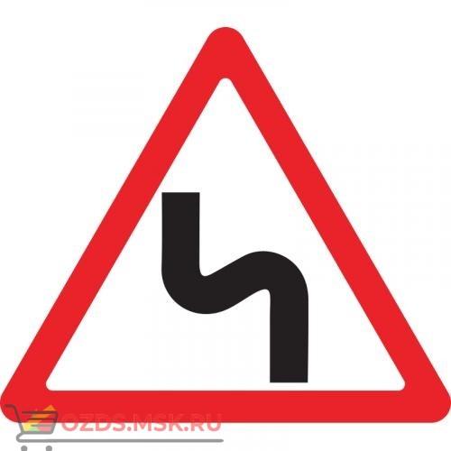 Дорожный знак 1.12.2 Опасные повороты (A=900) Тип А