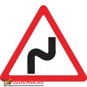 Дорожный знак 1.12.1 Опасные повороты (A=900) Тип В