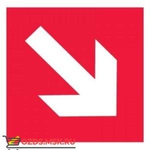 Знак F01-02 Направляющая стрелка под углом 45° ГОСТ 12.4.026-2015 (Пленка 200 х 200)