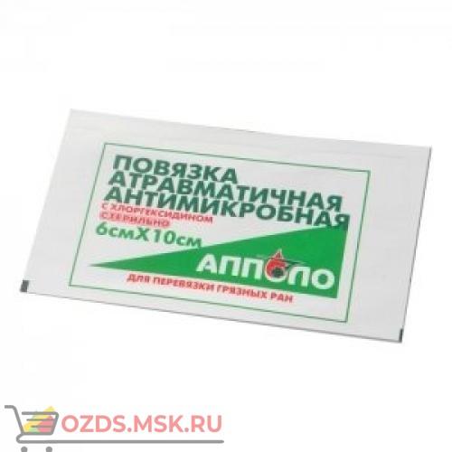 Повязка антимикробная с хлоргексидином 6х10 АППОЛО