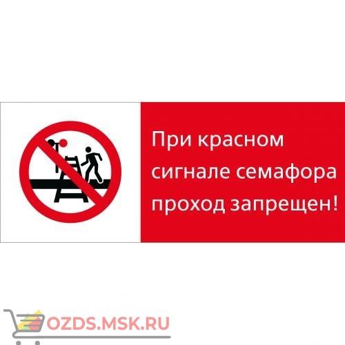 Знак 5.1.7.06 При красном сигнале семафора проход запрещен! (Пластик 540 x 220)