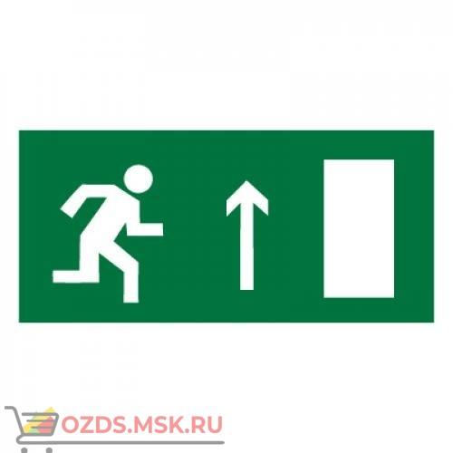 Знак E11 Направление к эвакуационному выходу прямо (правосторонний) ГОСТ 12.4.026-2015 (Пленка 150 х 300)