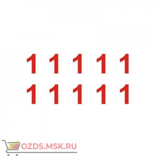 Знак T306-1 Цифры (1,1,1,1,1,1,1,1,1,1) (Пленка 100 х 200)