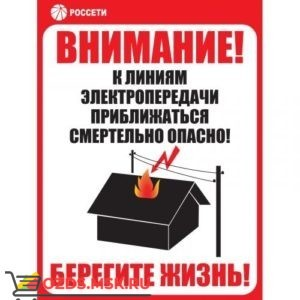 Знак ЗБ.ИЩ.11 «Приближаться к ЛЭП смертельно опасно» Рисунок 11 СТО 34.01-24-001-2015 (Металл 700 х 500)