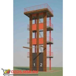 Учебно-тренировочная башня на 2 дорожки для занятий пожарно-прикладным спортом