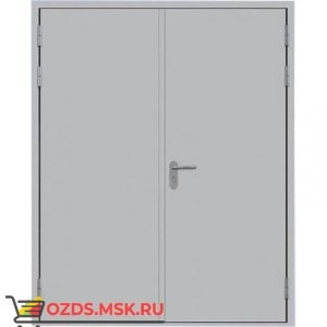 Дверь противопожарная двупольная ДПМ-0260 (EI 60) (левая) 2350Х2500 без порога равнопольная (коробка 2320Х2480)