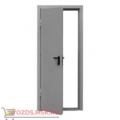 Дверь противопожарная однопольная ДПМ-0160 (EI 60) (левая) 900Х2075 с доводчиком (размер по коробке) БЕЛАЯ