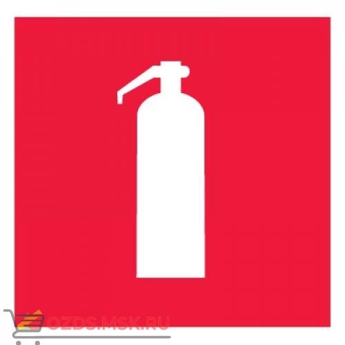 Знак F04 Огнетушитель ГОСТ 12.4.026-2015 (Пластик 150 x 150)
