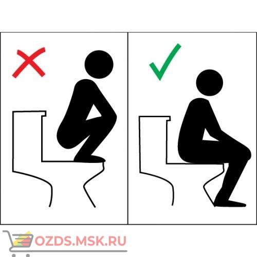 Знак T977 Правила пользования туалетом - по большому (Пленка 150 x 200)
